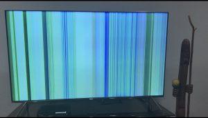 خطوط افقی و عمودی تلویزیون ال جی