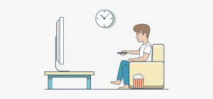 روشن و خاموش شدن تلویزیون